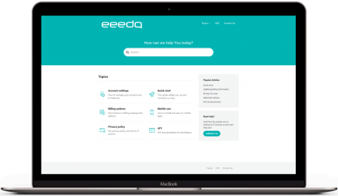 eeedo searchable desk self help portal front page