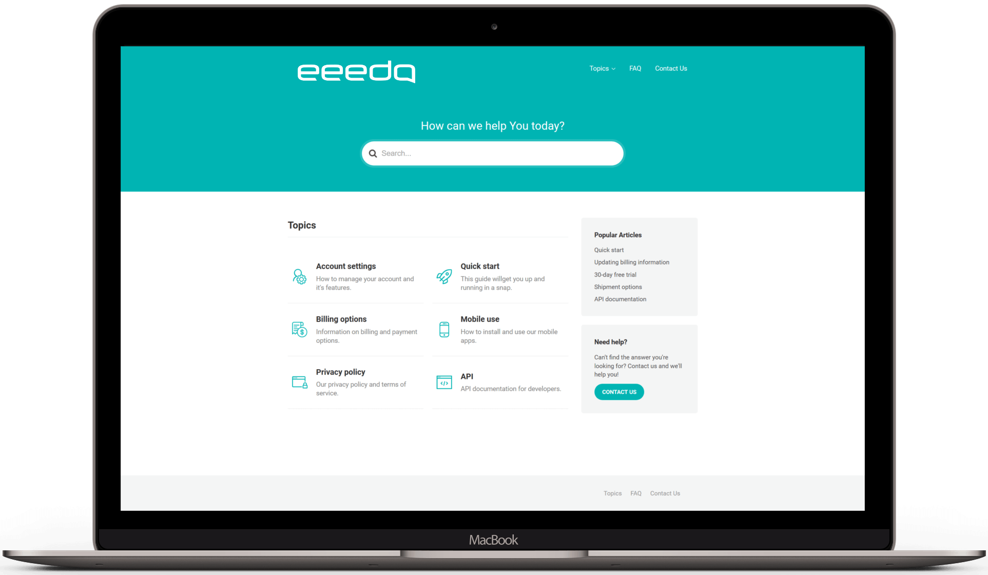 eeedo desk self service portal main view