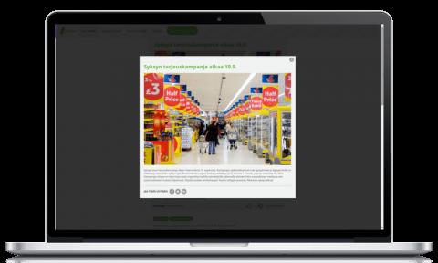 Koko organisaation tavoittava työntekijälähettilyysratkaisu selaimessa