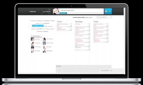 eeedon projektinhallintaohjelman workflow-näkymä