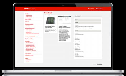 Kuljetusyrityksen selainpohjainen intranet
